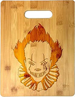 We All Float Down Here Horror Movie Clown Laser Engraved Bamboo Cutting Board - Wedding, Housewarming, Anniversary, Birthday, Father's Day, Gift