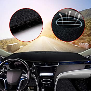 Dashboard Cover Dash Cover Mat Pad Custom Fit for VW CC Model Set Black Line