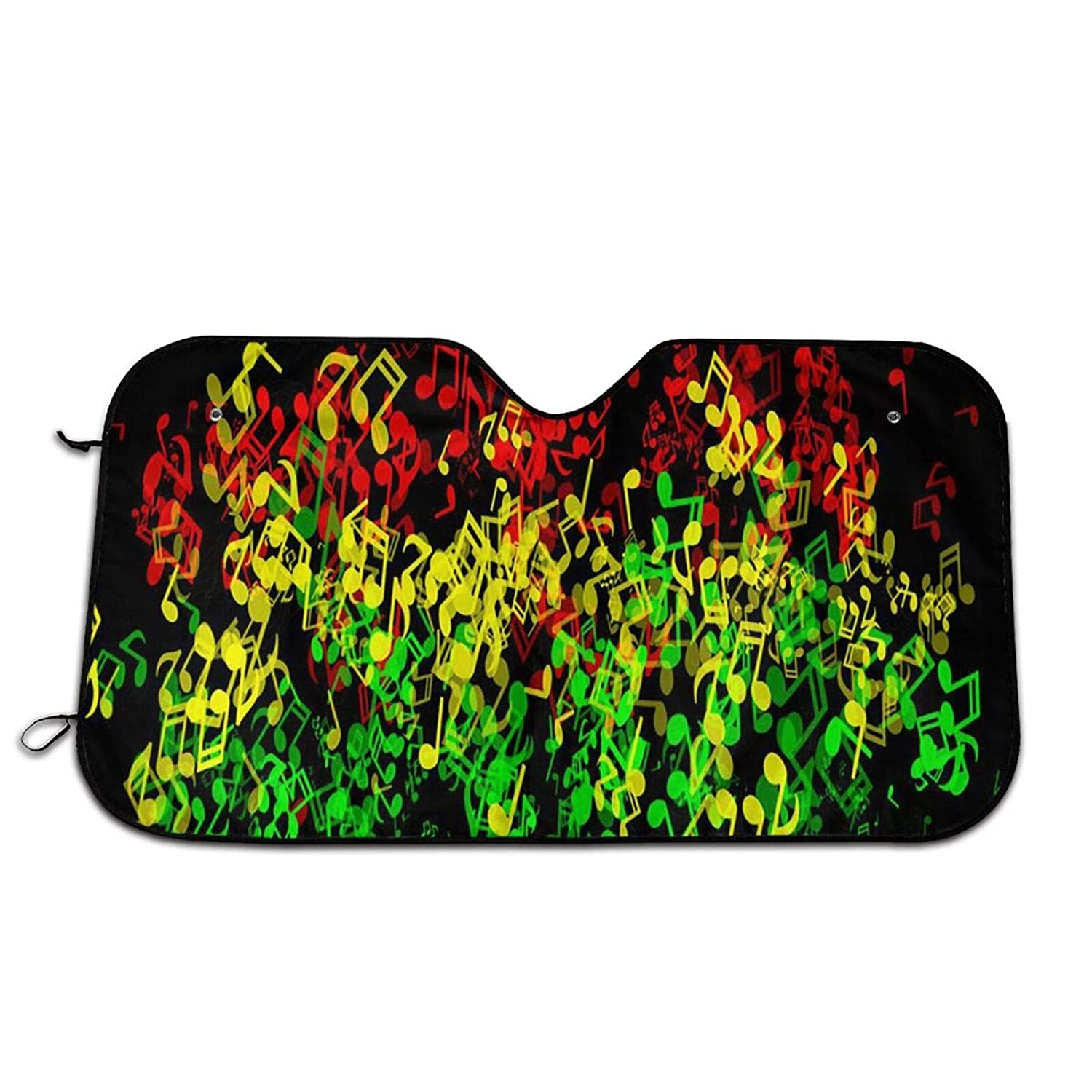 Perfect Reggae Music Notes Windshield Sun UV Fashion New Orleans Mall Shades Car for and