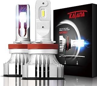 KATANA H11 H8 H9 LED Headlight Bulbs,CREE Chips 12000Lm 6500K Extremely Bright Conversion Kit,360 Degree Adjustable Beam A...
