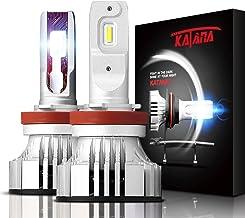 KATANA H11 H8 H9 LED Headlight Bulbs,CREE Chips 12000Lm 6500K Extremely Bright Conversion Kit,360 Degree Adjustable Beam Angle