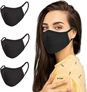 3-layer Cotton Basic Reusable Cloth Face Mask (Adult) Pack of 3, Soft Washable 100% Cotton Unisex Face Cover By SNM Apparels
