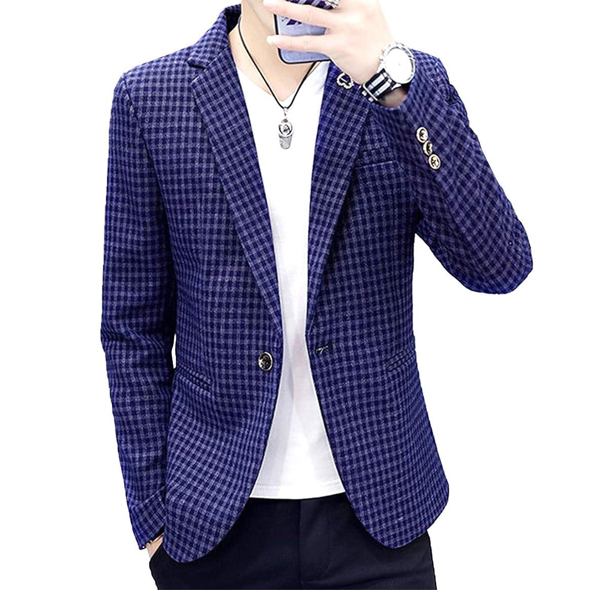 お世話になった国旗カートリッジ[Agree With(アグリーウィズ)] テーラードジャケット カジュアル ファッションスーツ ビジネス ストレッチ メンズ