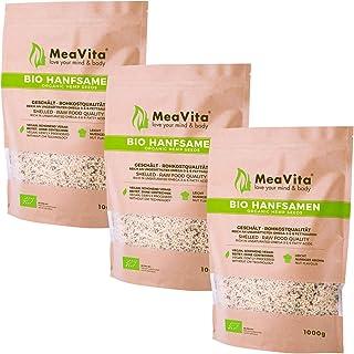 MeaVita Bio Hanfsamen, geschält, 3er Pack (3 x 1 kg)