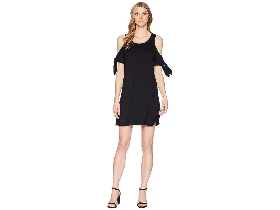 Karen Kane Cold Shoulder Knot Dress (Black) Women