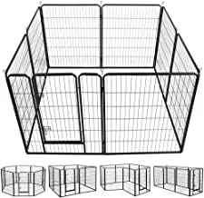 Yaheetech Heavy Duty Foldable Metal Pet Dog Puppy Cat Exercise Fence Barrier Playpen Kennel, Outdoor & Indoor,16 Panels/8 Panels