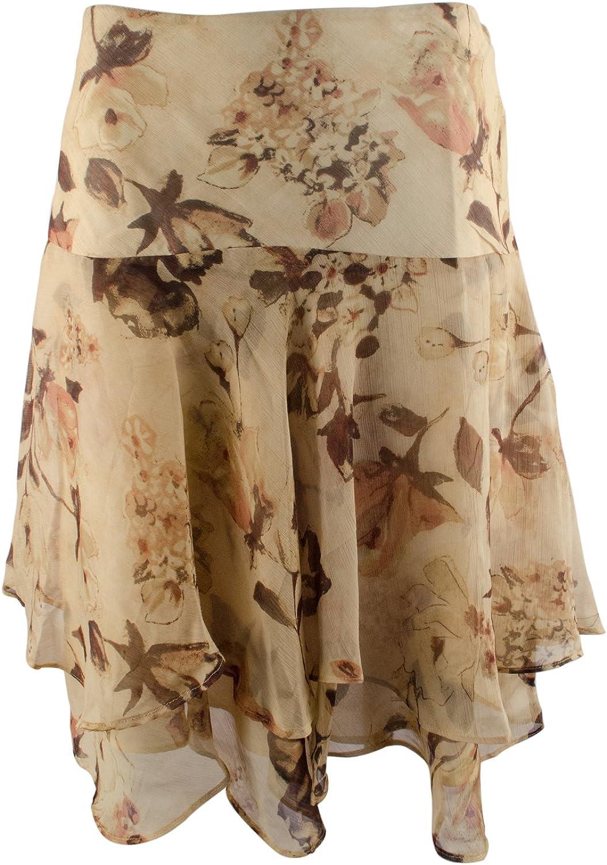 Women's Petite Floral Georgette Skirt