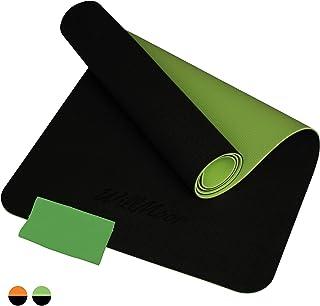WillMoor - halkfri sportmatta – fitnessmattor – yogamatta TPE – träningsmatta – gymnastikmatta – matta sport – sportmatta ...