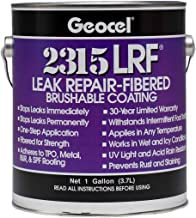 Geocel 2315-LRF Industrial Grade Fibered Sealant Clear 1 Gallon Brushable Instant Roof Leak Crack Repair Coating