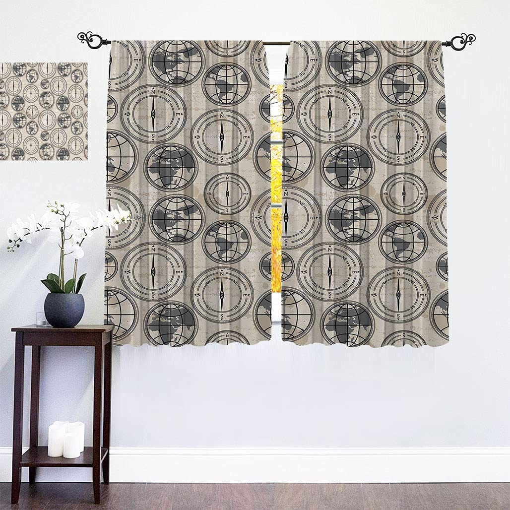 Super intense SALE Home Decor Blackout Curtains Grunge Pattern with Memphis Mall Background Glo