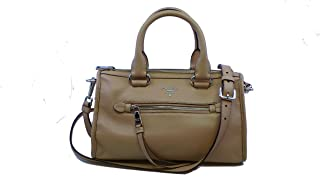 Women's Beige Tan Cammeo Bauletto Vitello Phenix Leather Tote Satchel Handbag 1BB022