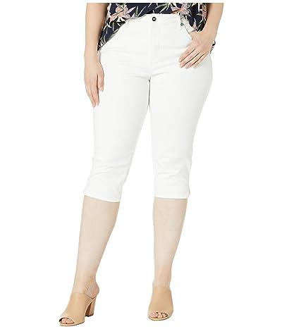 NYDJ Plus Size Plus Size Skinny Capris in Optic White (Optic White) Women
