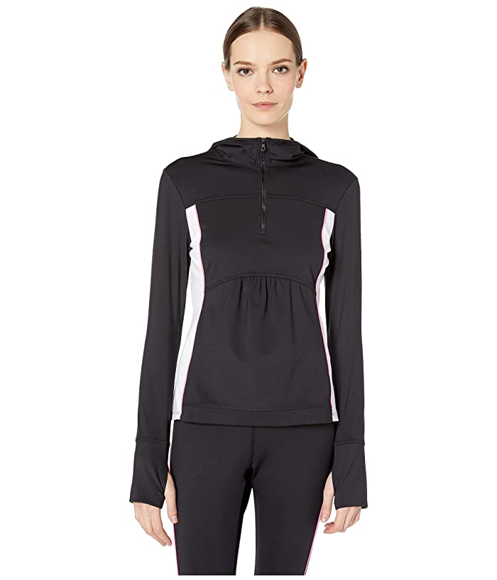 Kate Spade New York Athleisure Mesh Inset 1/2 Zip Jacket (Black) Women