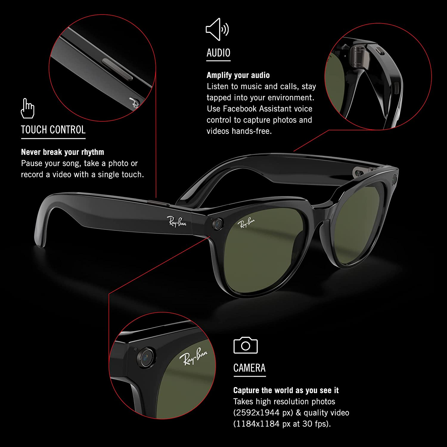 Ray-Ban Stories   Meteor Smart Glasses