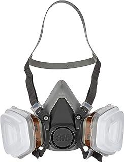3M 6002 C1 - Semimáscara respiradora reutilizable para pintura con doble filtro, protección respiratoria, peso facial 82 gr, color gris
