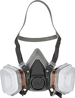3M 6002 C1 Semimáscara respiradora reutilizable para pintura con doble filtro, Protección respiratoria, Peso facial 82 gr, Gris