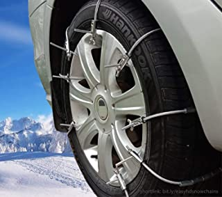 Super Easy HD Emergency Traction Snow Mud SUV Tire Chains - Anti Skid Multi-Functional Universal Fit for Pickup SUV Car Van Light Truck ATV Jeep Motorcycle Honda Toyota Nissan VW Ford BMW GMC