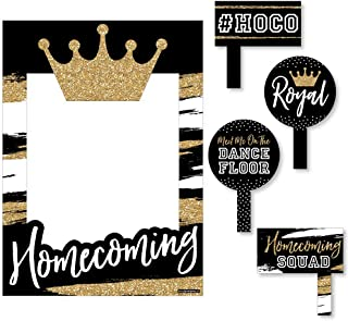 Big Dot of Happiness Hoco Dance - Homecoming Photo Booth Picture Frame and Props - Printed on Sturdy Material