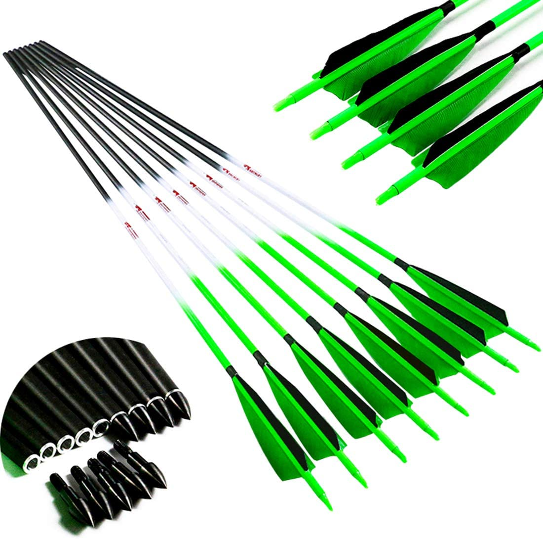 Ranking TOP6 Linkboy Archery Carbon Arrows Target Practice Discount mail order Hunting Flu