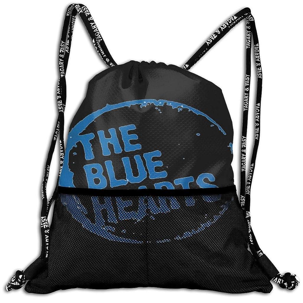 トレイルせっかちとしてザ?ブルーハーツ ナップサック 巾着 バックパック 折り畳み 防水 大容量 コンパクト 軽量 多機能 体操服収納 バックパック 遠足旅行/部活用 男女兼用 かわいい