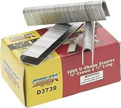 Steelex D3739 Box of Crown U-Shaped Staples, 1000-Pack, 1/4 x 1/2-Inch