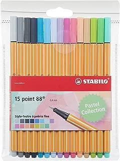 Stabilo Point 88–Terciopelo de bolígrafos Punta Fina–Colores Neon