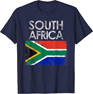 Vintage South Africa African Flag Pride Gift T-Shirt