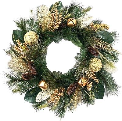 Sullivans Gold Bell Pine Needle Wreath