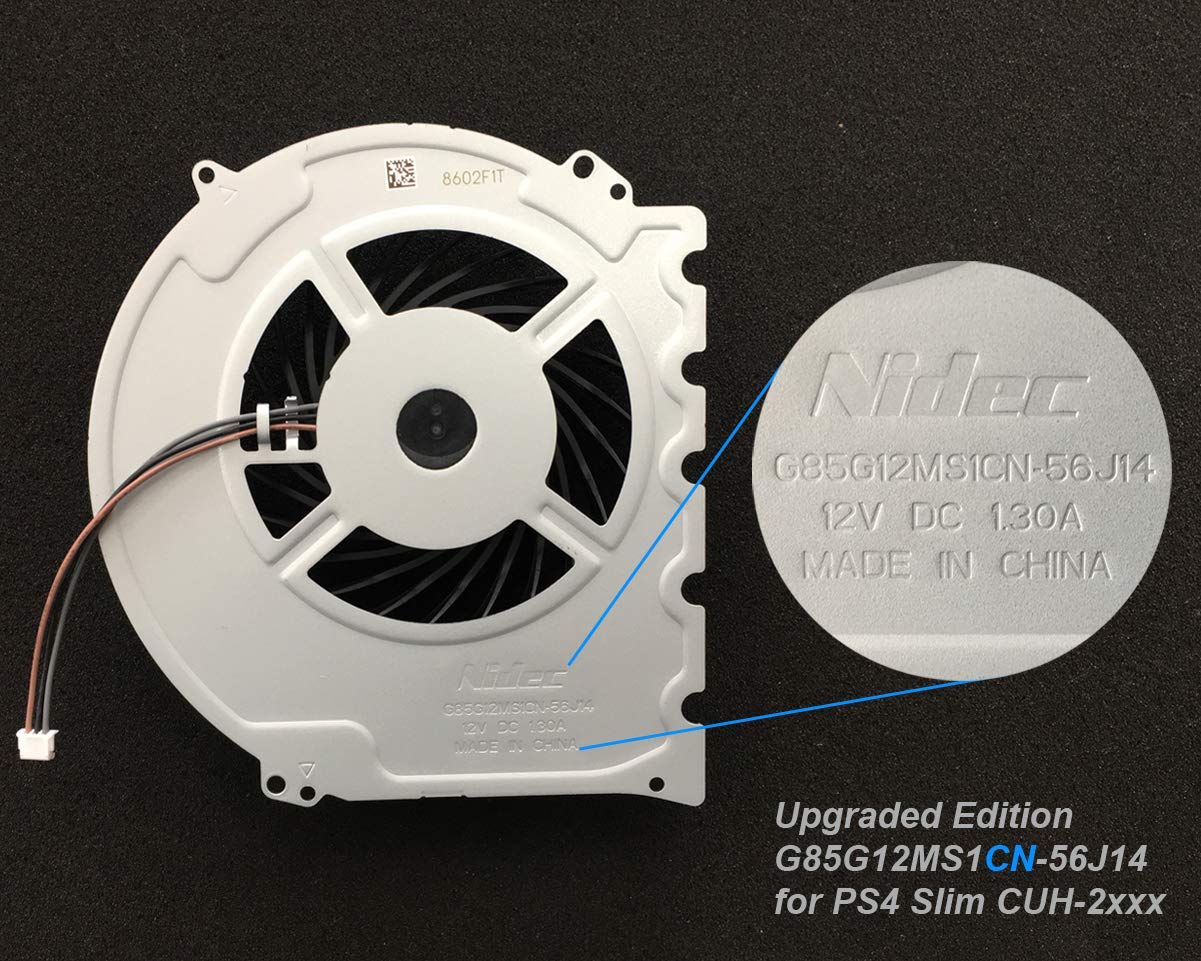 ElecGear Ventilador de Refrigeración para PS4 Slim CUH-2xxx ...