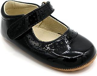 Lujoso diseño de Zapatos para bebé de Charol de Cuero