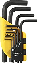 Stanley 1-13-929 korte vouwsleutel, zilver, set van 9 stuks