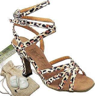 "Women Ballroom Dance Shoes Tango Wedding Party Salsa Shoe 5009EB Comfortable-Very Fine 3"" [Bundle of 5]"
