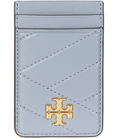 Tory Burch Kira Chevron Card Pocket (Cloud Blue) Handbags