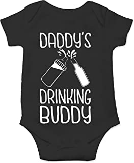 Daddy's Drinking Buddy - Gift Idea for Dad - Funny Cute Infant Creeper, One-Piece Baby Bodysuit