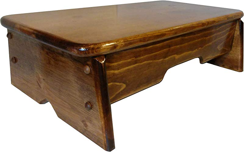 Bed Side Step Stool Provencial Stained 6 Tall By 11 Wide Made In U S A