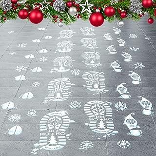 Colonel Pickles Novelties Santa Footprints - 90 Ct Footprint Floor Stickers Kit Reindeer & Elf