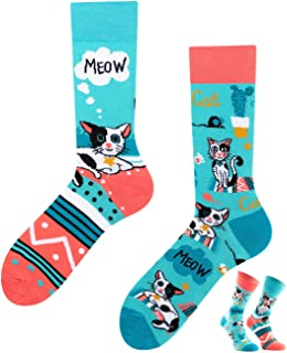 TODO, Colours - Calcetines unisex con diseño de gatos
