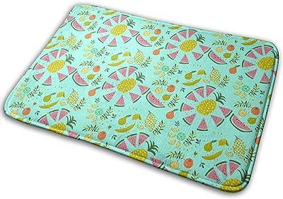 Graffiti Fruit Art Carpet Non-Slip Welcome Front Doormat Entryway Carpet Washable Outdoor Indoor Mat Room Rug 15.7 X 23.6 inch
