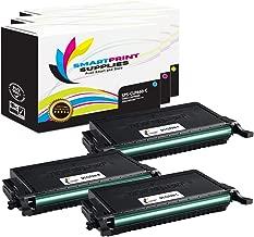 Smart Print Supplies Compatible CLP-C660B CLP-M660B CLP-Y660B Toner Cartridge Replacement for Samsung CLP-610ND 660ND, CLX6200FX 6210FX 6240 Printers (Cyan, Magenta, Yellow) - 3 Pack