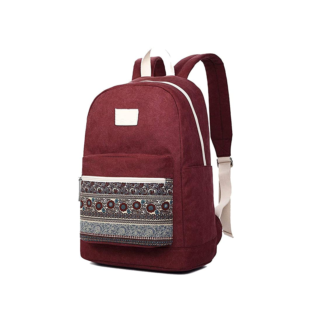 Canvas Backpack Bag for Women Vintage Stylish Casual Laptop Travel Backpacks 2 Size 13 Inch 15 Inch