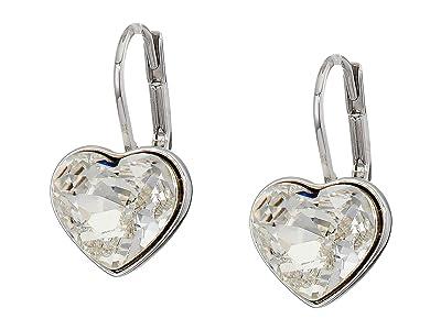 Swarovski Bella Heart Pierced Earrings (White) Earring