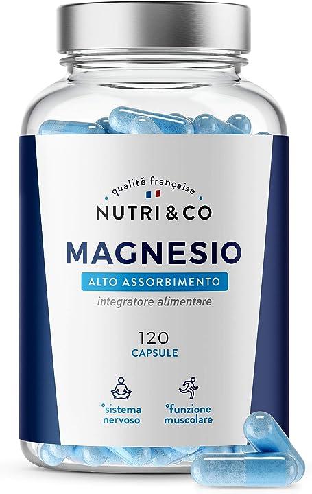 Magnesio malato, taurato & liposomiale  120 capsule vegane | nutri & co® II120