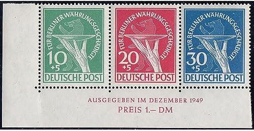 Goldhahn Berlin Nr. 68-70 postfrisch  als Herzstück aus Block 1 Briefmarken für Sammler
