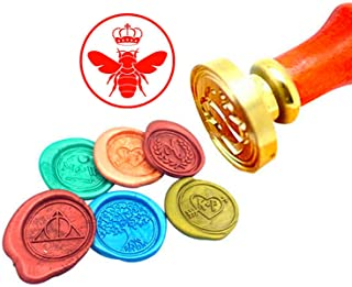 Kooer Queen Bee Wax Seal Stamp Custom Queen Bee Sealing Wax Stamp Kit Queen Bee Wax Stamp Kit Personalized Wedding Anniversary Invitation Seal Stamp