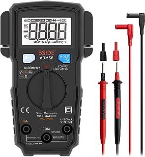 BSIDE Electricians Digital Multimeter Smart 6000 Counts Auto-Ranging Voltmeter AC/DC Current Voltage Frequency V-Alert Liv...