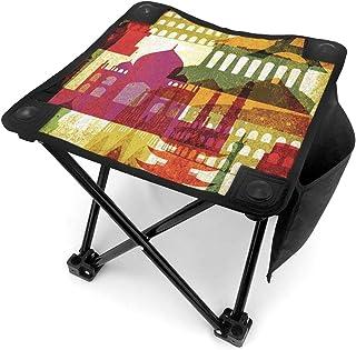 アウトドア 椅子 世界の記念碑 アウトドア 椅子 ピクニック 釣り コンパクト イス 持ち運び キャンプ用軽量 収納バッグ付き 折りたたみチェア レジャー 背もたれなし