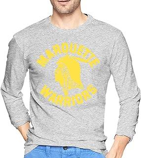 Men's Marquette Warriors Long Sleeve T-Shirt Retro Cotton Long Sleeve T-Shirt Sport Shirt