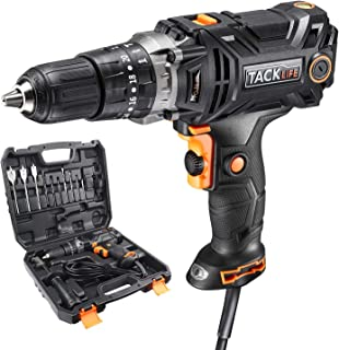 TACKLIFE Hammer Drill, Corded drill with Position Clutch, High Torque, 2 Variable Speed, Liquid Horizontal Bubble, Ideal for Drilling into Wood, Drywall, Metal and Tighten the Screws - PID04A