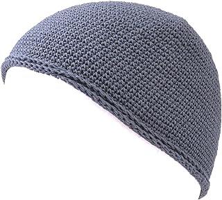 CHARM Casualbox   Mens Womens Skull Cap Islam Beanie Hat Kufi Hand Made Tight Fashion