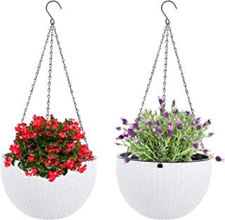 Rattan Flower-Cantilever with Liner Ø26 or Ø30 Flowers Cantilever Hanging Basket